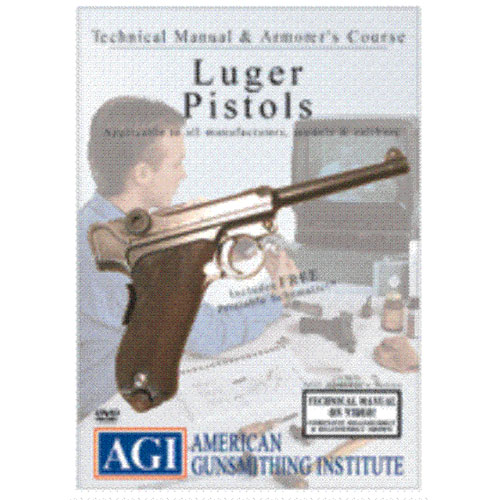 AGI WWII P-08 German LUGER PISTOL Armorer Gunsmith DVD