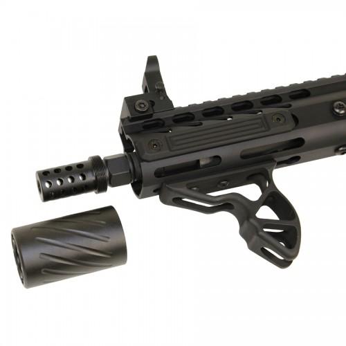 AR15 Muzzle Brake w/ Blast Shield Linear Compensator 1/2x28 tpi