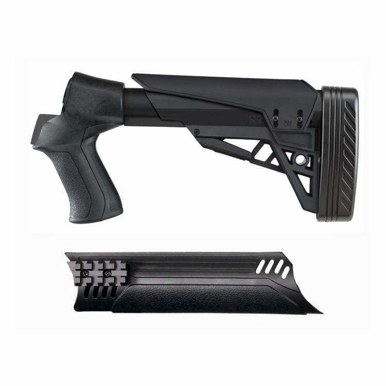 ATI Moss/Rem/Win 500 Shotgun T3 TactLite 6 Position Black Stock & Forend  Combo