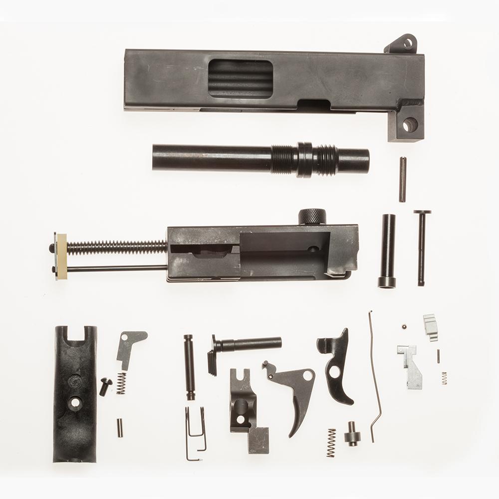 MAC 10 M-10/45 SMG 45 acp Parts SET Kit Less Receiver (+ Threaded Barrel)